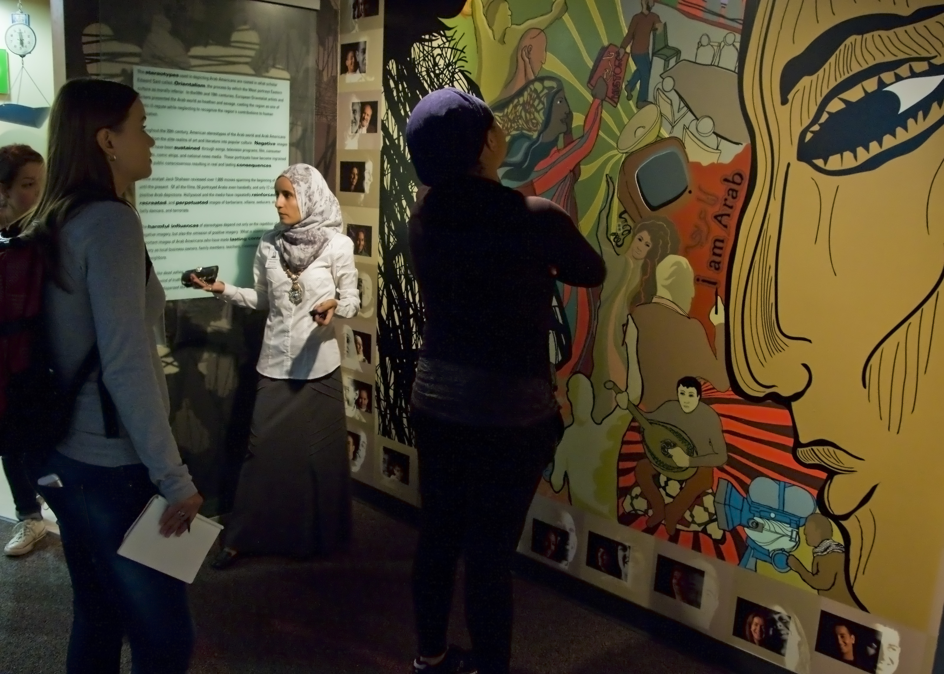 Exhibit at the Arab American National Museum, Institute for Social Change, Summer 2015