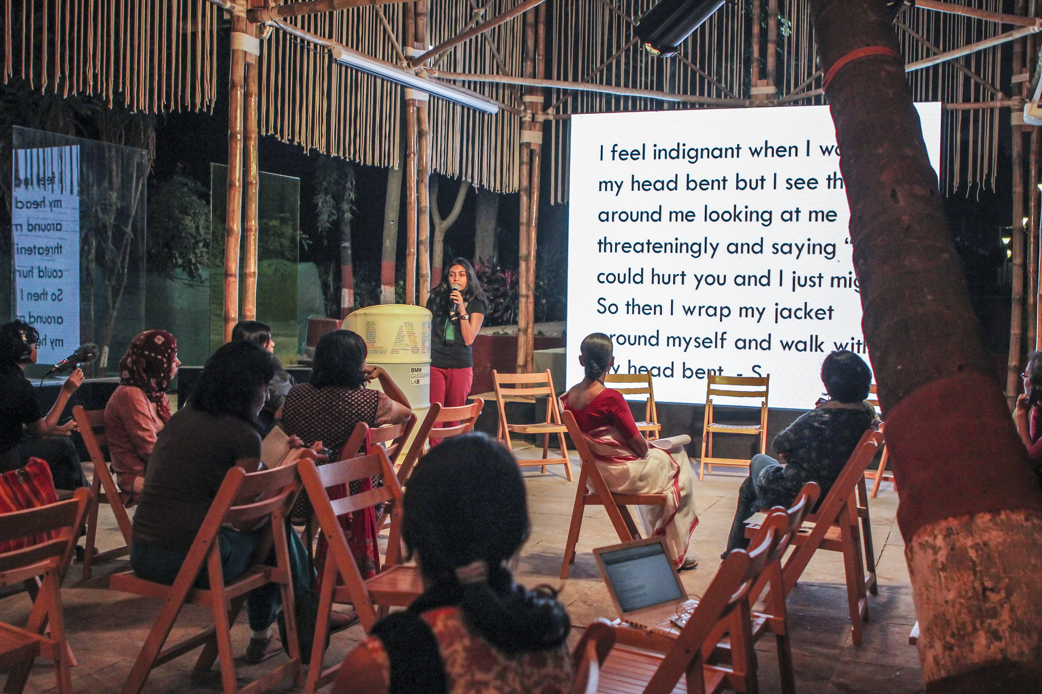 Women and Social Spaces Conversation at BMW Guggenheim Lab Mumbai (December 2012)